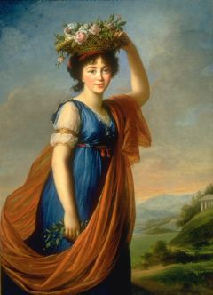French Princess Eudocia Invanovna Galitzine as Flora, 1799