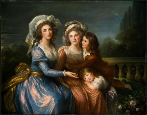 The Marquise de Pezé and the Marquise de Rouget with Her Two Children, 1787