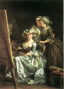 Self-portrait with two pupils by  Adelaide Labille-Guiard 1785