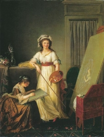 Atelier of an Artist. oil on canvas by Marie-Victoire Lemoine 1796