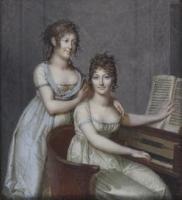 Portrait de madame de Musset mère et de sa soeur