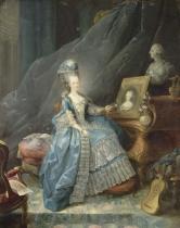 Gautier dAgoty, Jean-Baptiste-Andre (1740-1786) - Portrait of a Lady, 1775, Versailles? Marie-Therese de Savoie (1756-1805) ?