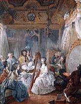 Jean-Baptiste-André Gautier dAgoty, Marie-Antoinette jouant de la harpe