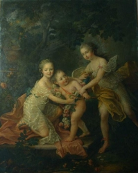 Children of the Duc d'Orleans  1762