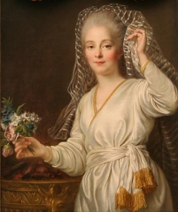 François-Hubert Drouais 1727-1775.Portrait of a young woman as a Vestal