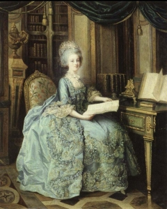Marie-Antoinette Dauphine at Versailles, also called  the young queen