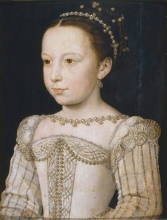 The young Marguerite de Valois, by François Clouet, c. 1560