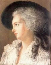 Duchesse de Polignac Pastel Lebrun 1787