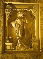 Louise Pommery bas-relief monumental réalisé par Jean Barrat, en 1986