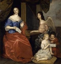 Lely Peter Sir (dit), Van der Faes Peter (1618-1680) - Mademoiselle de la Vallière et ses enfants