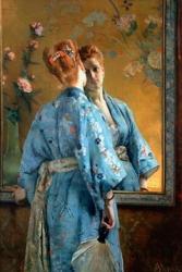 Alfred Stevens (1823-1906), La Parisienne Japonaise, ca. 1872-75  Liege, MAMAC