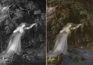 Richard Westall's Ophelia engraved by J. Parker