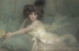Lucien LEVY DHURMER Mademoiselle Carlier 1910年