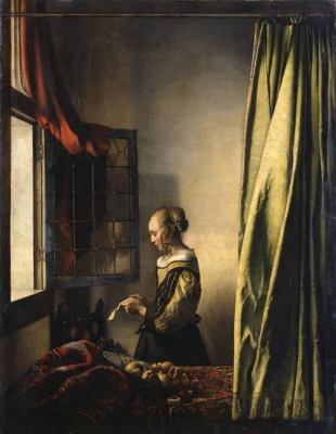 Briefleserin am offenen Fenster 1657 Gemäldegalerie Alte Meister in Dresden