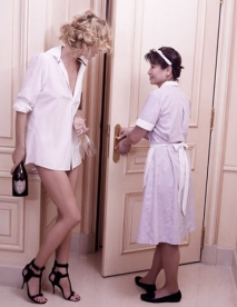 Lagerfeld's Dom Pérignon Rose Vintage 1996 Ads Starring Eva Herzigova