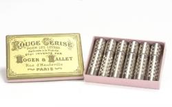 labios-Caja de seis pintalabios rojo cereza de 1900