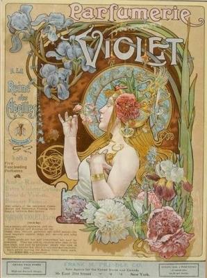 ALPHONSE MUCHA. Perfumerie Violet-kafka