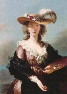 Élisabeth-Louise Vigée Le Brun Self-Portrait in a Straw Hat 1782年