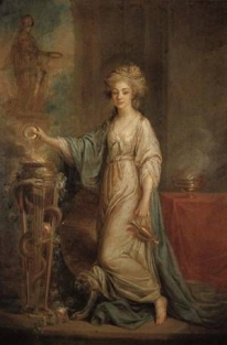 Angelica Kauffmann Portrait of a Young Lady as a Vestal Virgin