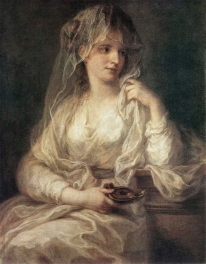 KAUFFMANN Angelica Portrait Of A Woman Dressed As Vestal Virgin