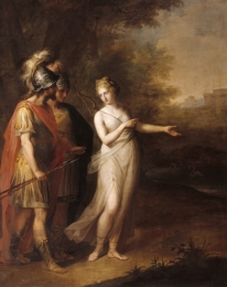 Venus Directing Aeneas and Achates to Carthage, by Angelica Kauffman. Exhbited at the Royal Academy in 1769. Accepted in lieu of tax by H.M. Government and transferred to the National Trust in 1957