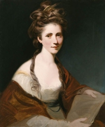 Reynolds, J. Portrait of Angelica Kauffmann, half length in white wearing a red shawl