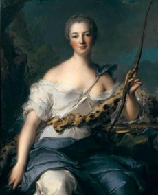PORTRAIT OF MADAME DE POMPADOUR IN THE GUISE OF DIANA