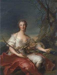 Museo Thyssen-Bornemisza, Madrid Retrato de Madame Bouret como Diana  1745