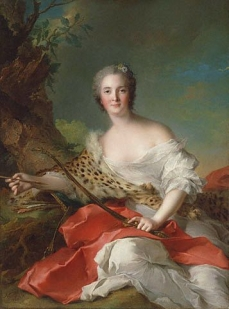 Madame Bonnier de la Mosson as Diana  1742 J. Paul Getty Museum, Los Angeles