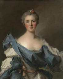 Portrait of the Comtesse dAndlau, half-length, in a White Dress with a Blue Shawl