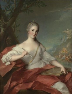 Portrait of Marie-Geneviève Boudrey, represented as a muse