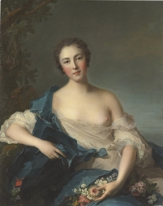 Portrait of a woman as Flora Jean-Marc Nattier