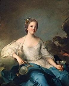 MADEMOISELLE DE ROHAN-GUEMENEE, MARQUISE DE CREVECOEUR (1717-1744) by Jean-Marc Nattier  Versailles ; musee national des chateaux de Versailles et de Trianon