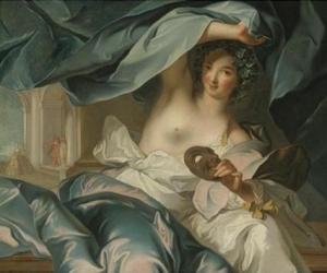 Follower of Jean Marc Nattier, Portrait of the Duchesse de Châteauroux as Thalia, Muse of Comedy