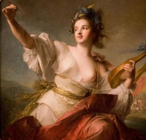 Terpsichore Musa da Música e da Dança, óleo sobre tela de Jean-Marc Nattier 1739