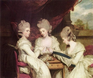 Sir Joshua Reynolds Die Schwestern Waldegrave National Gallery of Scotland 『De drie dochters van Maria Walpole uit haar eerste huwelijk, vervaardigd door Joshua Reynolds.』