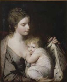 Portrait de Maria Walpole, Comtesse Waldegrave (1739-1809), avec sa fille Elizabeth-Laura (1760-1809)