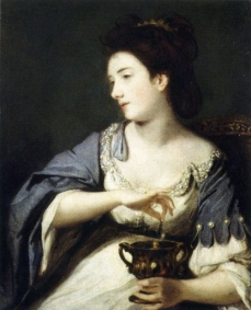 Joshua Reynolds Kitty Fisher as Cleopatra Dissolving the Pearl, 1759 Tate Britain