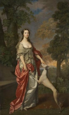 Elizabeth Gunning, Duchess of Hamilton, 1733 - 1790 : commissioned by James, 6th Duke of Hamilton Gavin Hamilton Scottish National Portrait Gallery