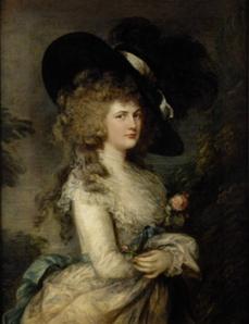 Thomas Gainsboroughs portrait of Georgiana, Duchess of Devonshire Chatsworth