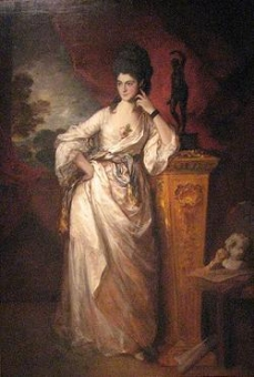 Penelope, Viscountess Ligonier.Exhibited R.A. 1771 by Thomas Gainsborough