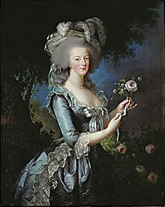 Queen Marie Antoinette of France ,also called Marie Antoinette with a rose  Vigee-Lebrun 1783
