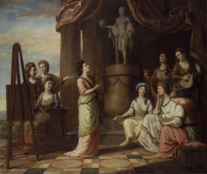 Portraits in the Characters of the Muses in the Temple of Apollo by Richard Samuel 1778 National Portrait Gallery, London