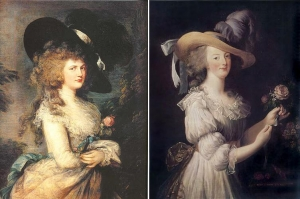 Thomas Gainsborough Lady Georgiana Cavendish & Marie Antoinette in a Muslin dress  Louise Vigée Le Brun