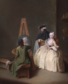 The Painters Studio -Pietro Longhi Attribution to Pietro Longhi of the present painting