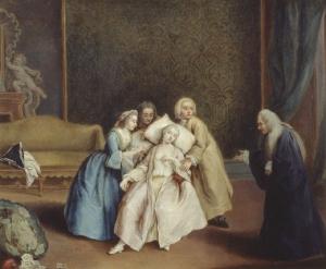The fainting spell Pietro Longhi (Pietro Falca) Gallerie di Palazzo Leoni Montanari