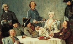 Artist Sketching an Elegant Company (Il Cafe), c. 1760-2