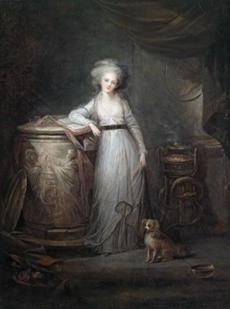 Portrait of Princess Elisabeth Philippine Marie Helene de Bourbon, Madame Elisabeth, as a vestal virgin Charles Emmanuel Joseph Leclerq  (1753 - 1821)