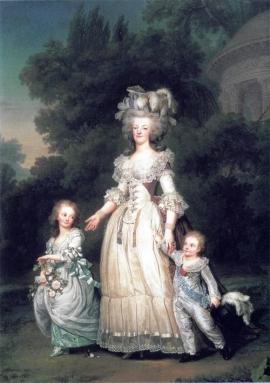 Marie Antoinette-children-1785-6-Wertmuller