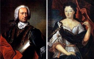 ジャン・バティスト・ジョセフ・フランソワ・サド伯爵(Jean-Baptiste François Joseph) マリー・エレオノール・ド・マイエ・ド・カルマン(Marie-Eleonore de Maille de Carman)